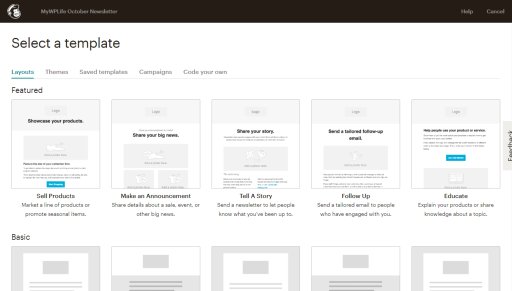 MailChimp Ready-made Email Templates