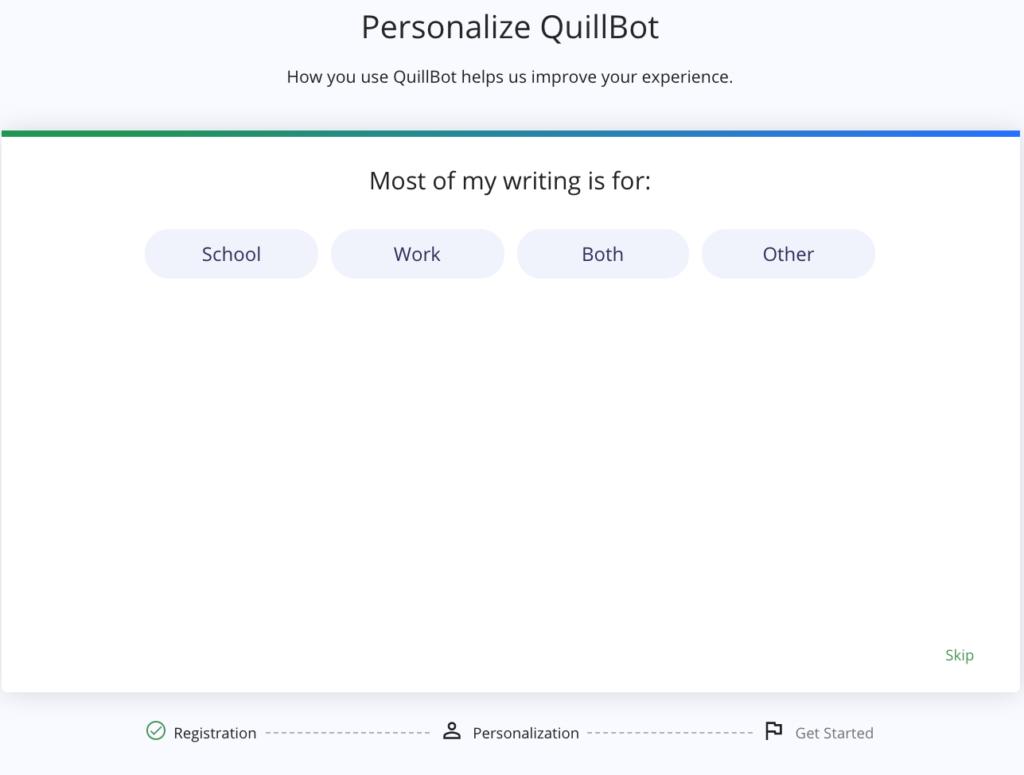 QuillBot Personalization