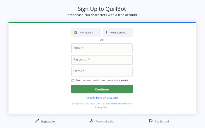 QuillBot Signup